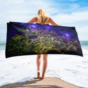 Fortnite Bath Towel for Boys and Girls Map